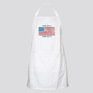 [Your Text] 'Handmade' US Flag Apron
